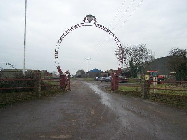 Entrance to Eaglesfield Equestrian Centre