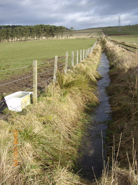 A drainage ditch