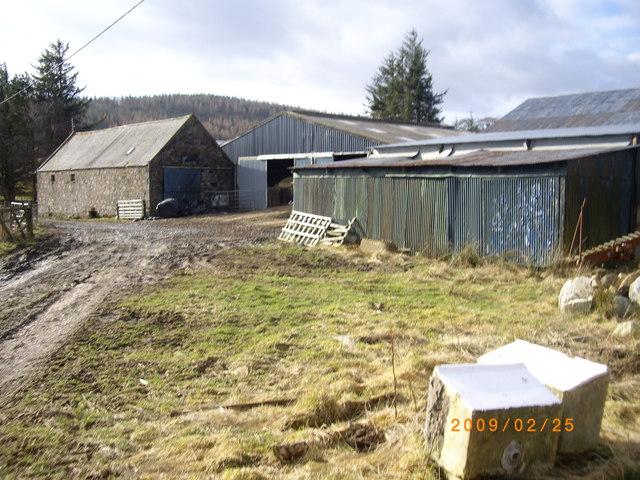 Farm buildings at Moulinearn