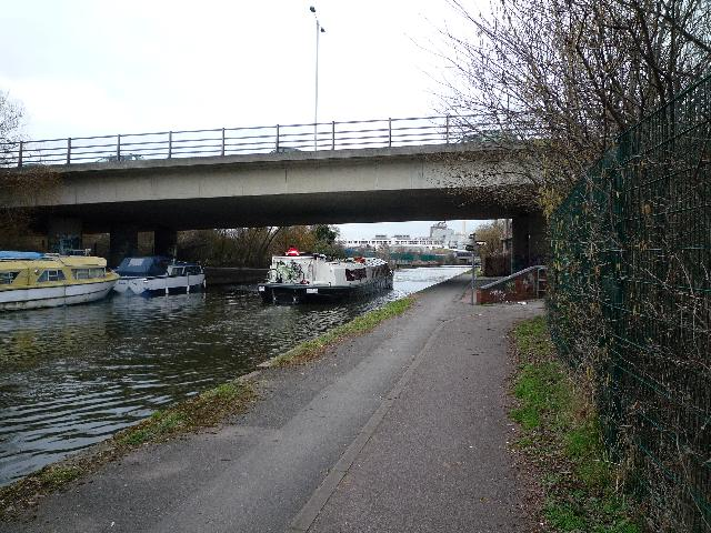 The Parkway passing over the Grand Union Canal, near to Bulls Bridge