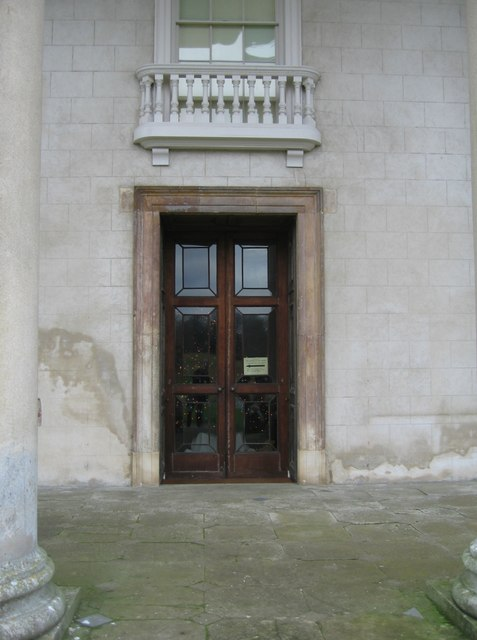 Door within the portico