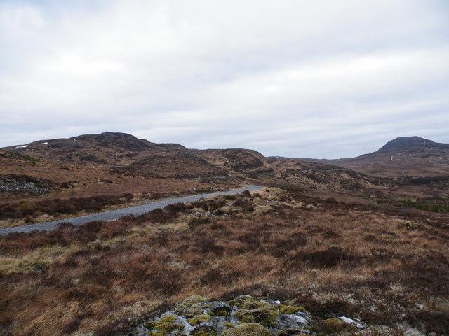 Hydro track Going North past Carn Loch an t-Sionnaich