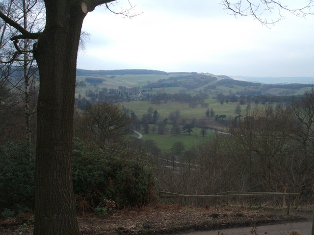 Chatsworth Park; view from Hunting Tower