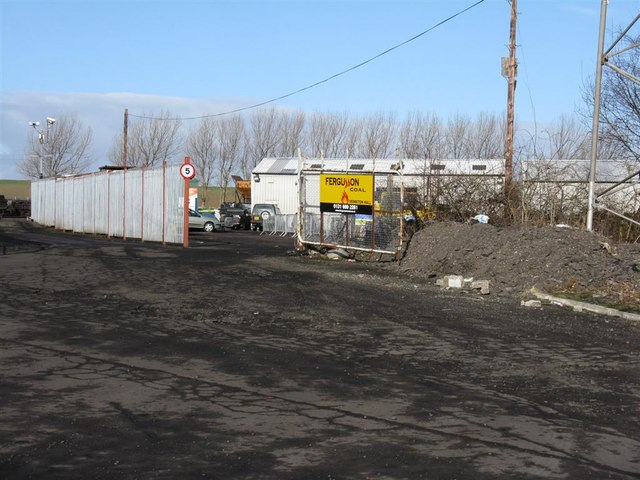 Entrance to coal yard at Monktonhall