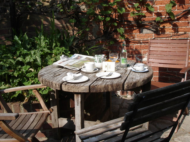 Chichester - in the rear garden of St Martin's Tea Rooms