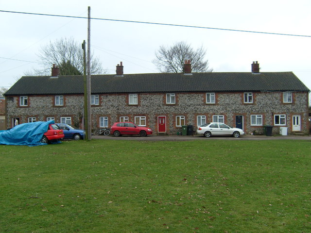 Cottages facing the Green, Ashill.