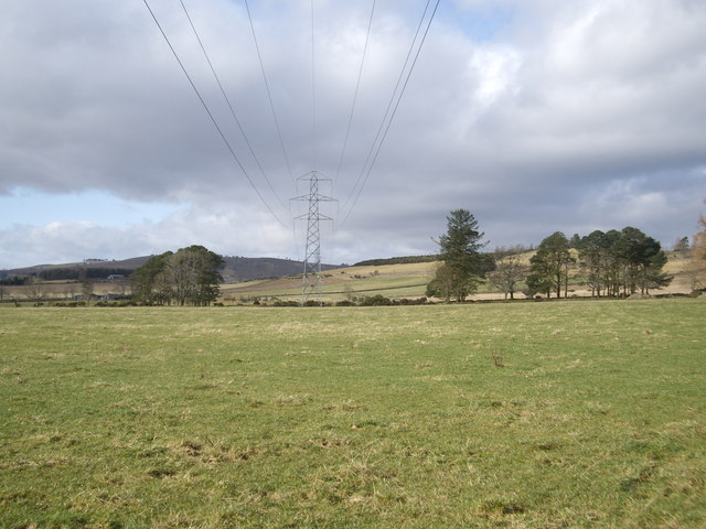 Power Lines running WNW