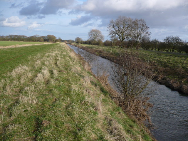 River Derwent and Dike at Brompton Ings