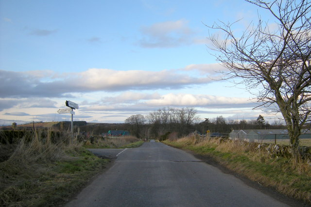 Dumbarrow Mill / Pressock Road at its junction with the Idvies Mill Road
