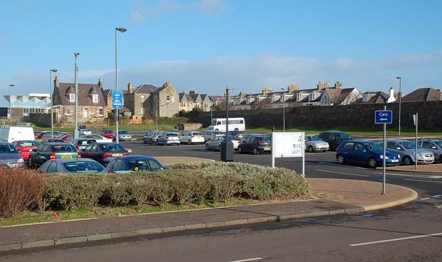 Seafront Car Park At Ayr