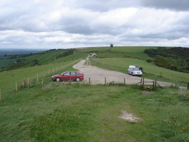 Gallows Down - view to the east from Combe Gibbet