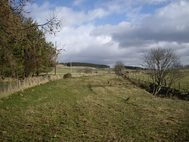 View east from near Broomfold