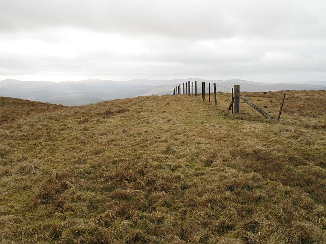 Fence corner on Whitehope Heights