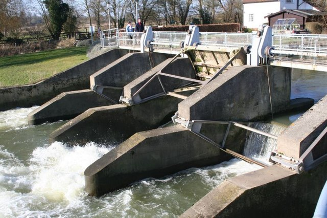 One sluice open
