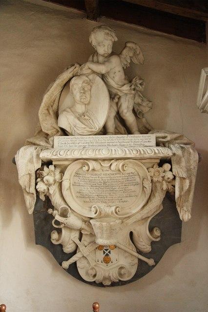 Memorial to Sir Gilbert Heathcote