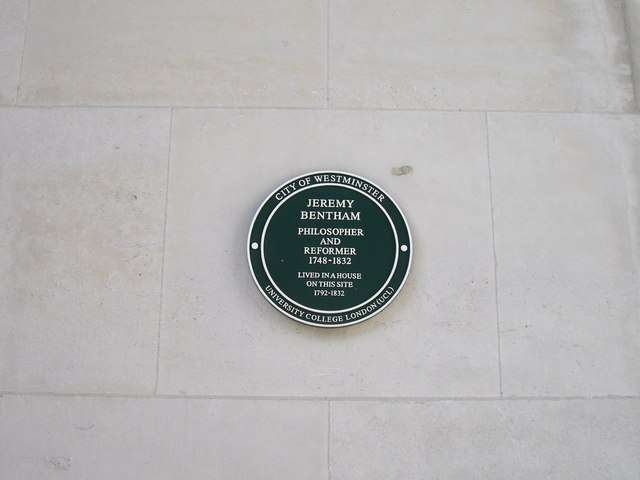 Commemorative Plaque to Jeremy Bentham