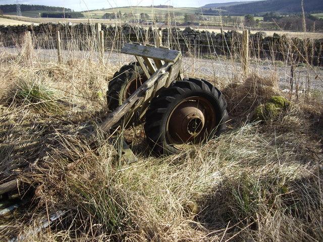 Abandoned farm equipment near Redstones