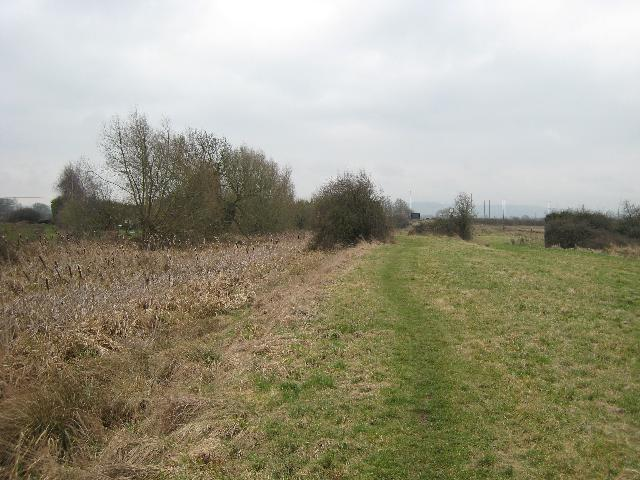 Course of Stroudwater Canal near Whitminster