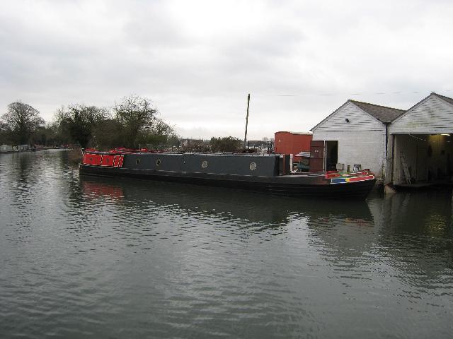 Narrowboats at Saul Junction
