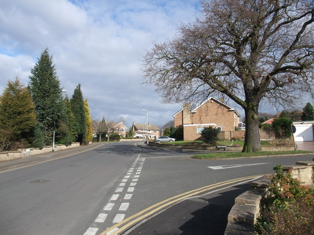 Almond Grove joining Robinson Drive, Worksop