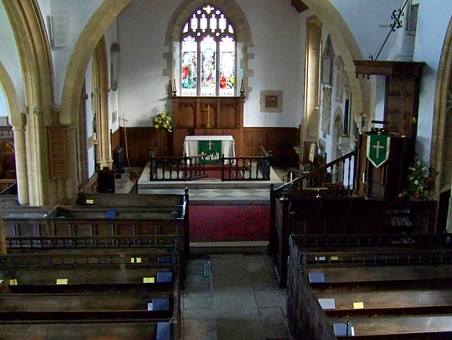 Interior,  Church of St Mary the Virgin, Puddletown