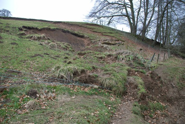 Landslip on Banks of River Nidd