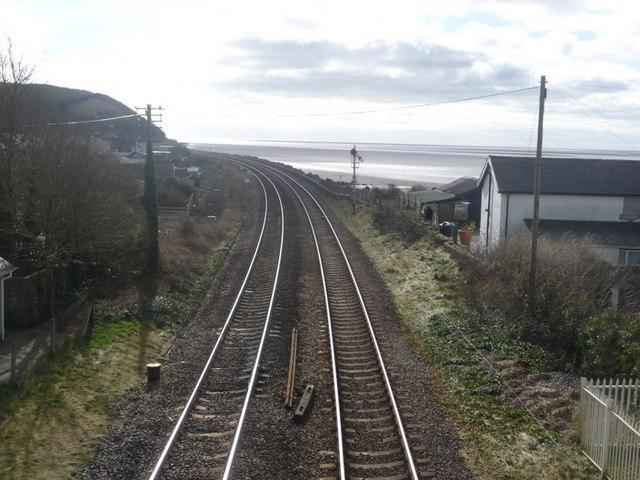 Ferryside: the railway approaches