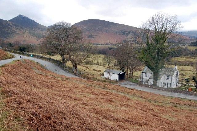 Road north of Catbells