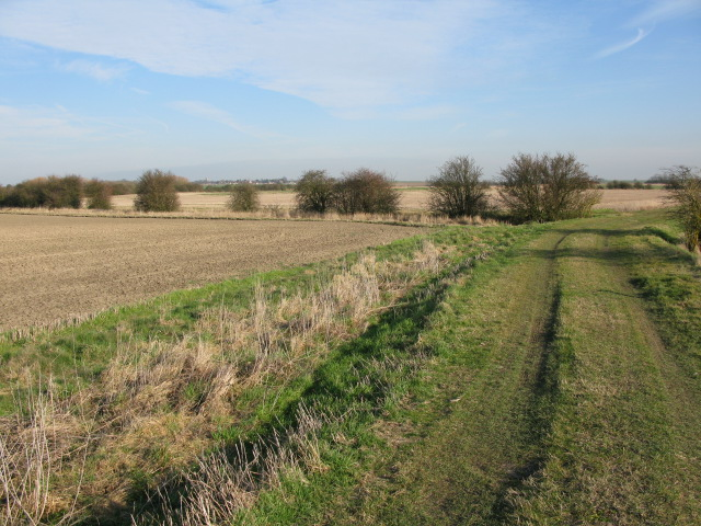 View along the Wantsum Walk across Chislet Marshes