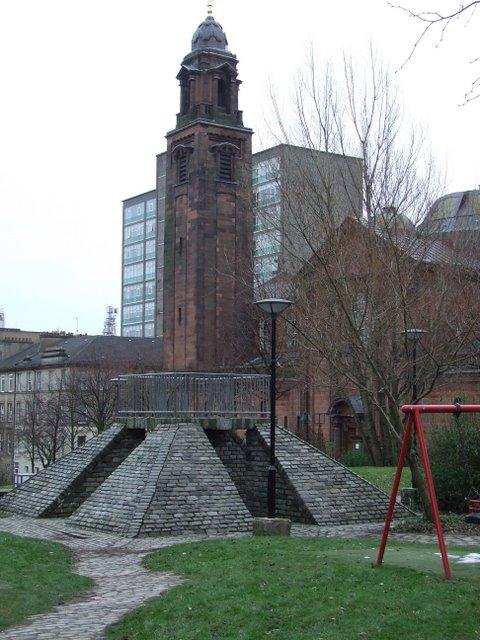 Playground and church