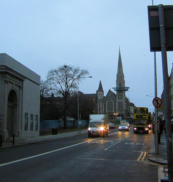 Upper O'Connell Street towards Parnell Square East Dublin