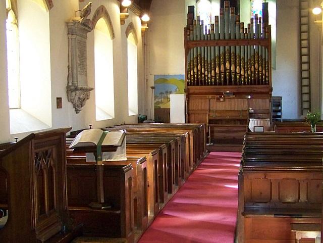 Interior,  Church of St John the Evangelist, Tincleton