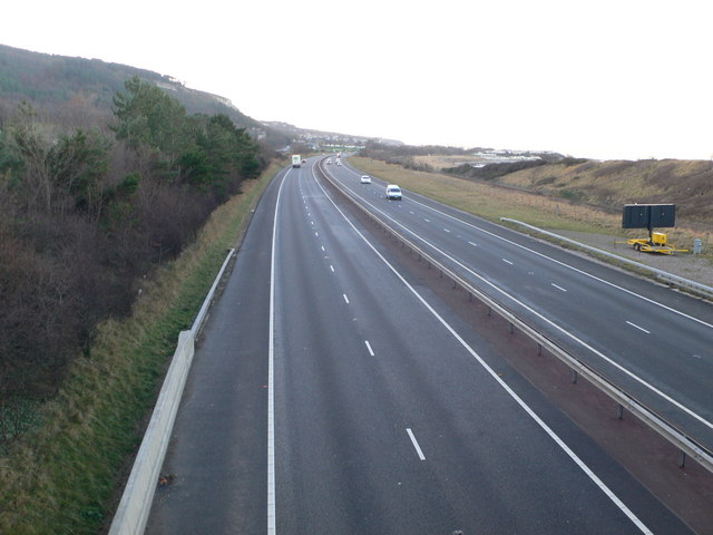 The A55 west of Abergele