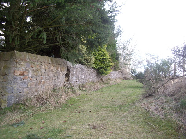 Rear wall of former school