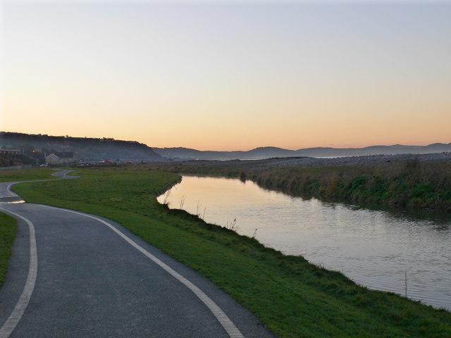 The River Dulas at Llanddulas