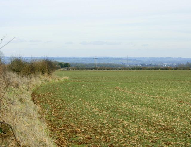 2009 : Looking east off Chippenham Lane