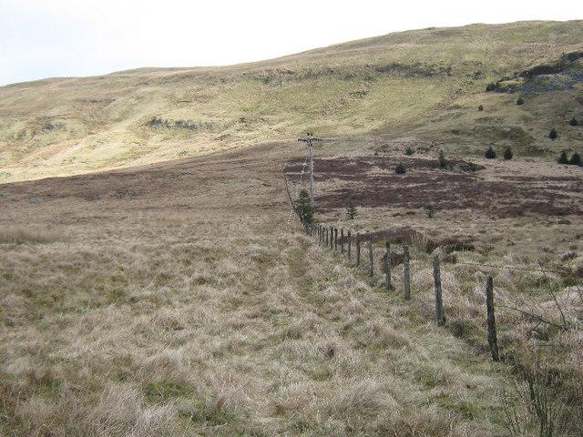 Rough ground on Mynydd y Waun