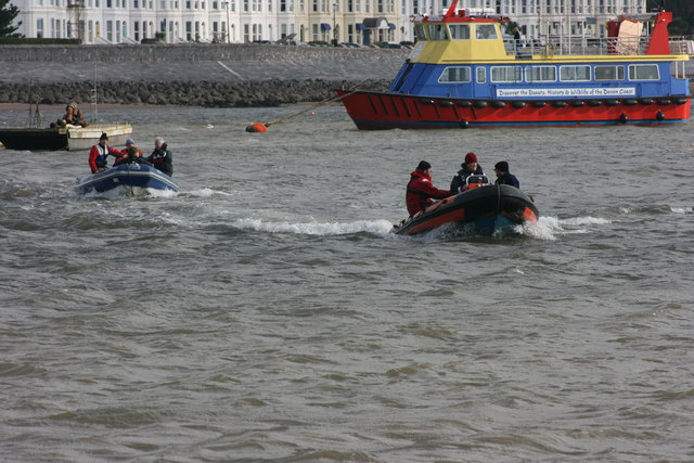 The Esplanade and boating activity on the Exe