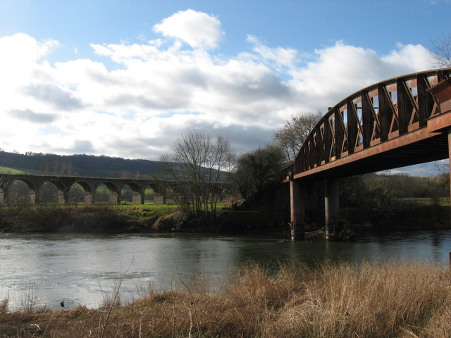 Former railway bridge and viaduct, River Wye, Monmouth