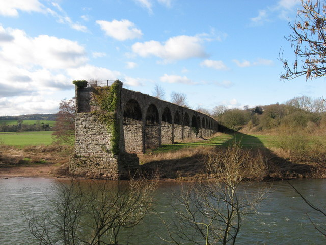 Viaduct, River Wye, near Monmouth