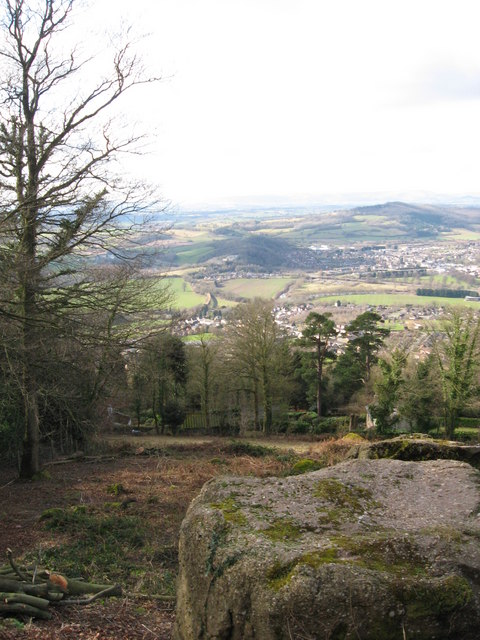 View from the Kymin towards Monmouth