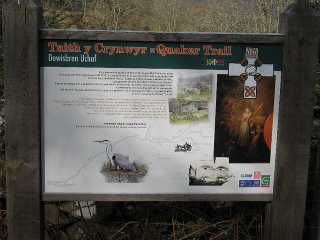 The information board at Dewisbren Uchaf