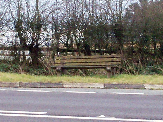 Seat at The Folly Cross, Llanteg