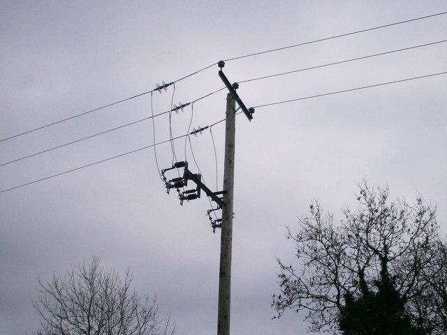 Electric Pole opposite Milton, Llanteg