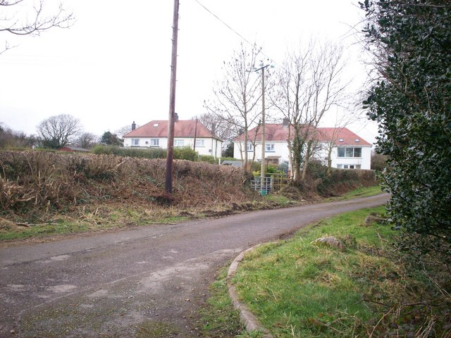 Rear view of what were Council Houses, Llanteg