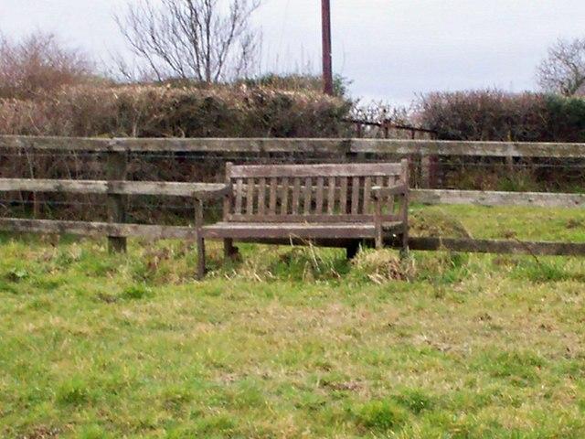 Seat at Stanwell Corner, Llanteg