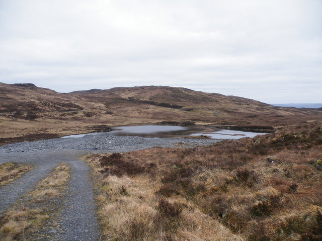Quarrying beside Loch a' Mheig for new track surfacing
