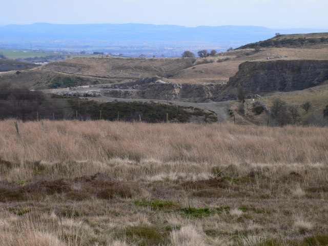 Limestone quarry to the east of Llandegla Forest