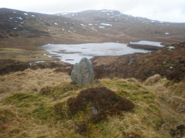 Standing Stone above Loch an Dubhair