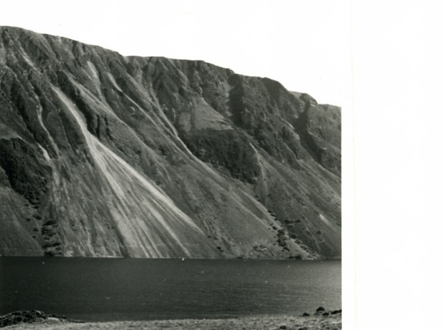 Wastwater, and the screes beyond, in 1959